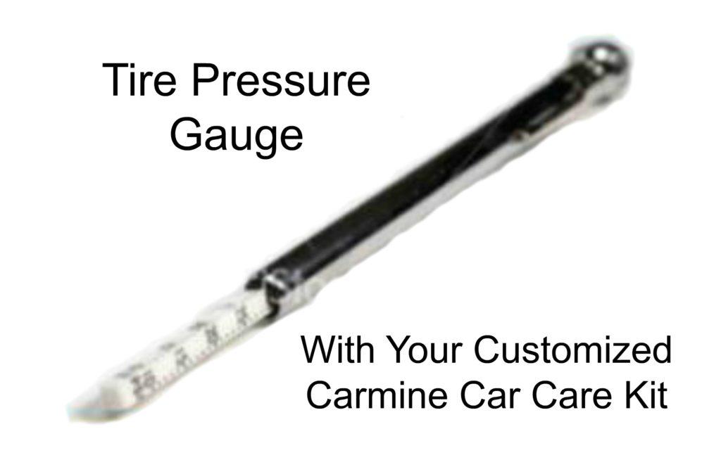 Carmine Tire pressure gauge