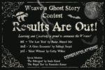 Weave a Ghost Story Contest Results Are Out!