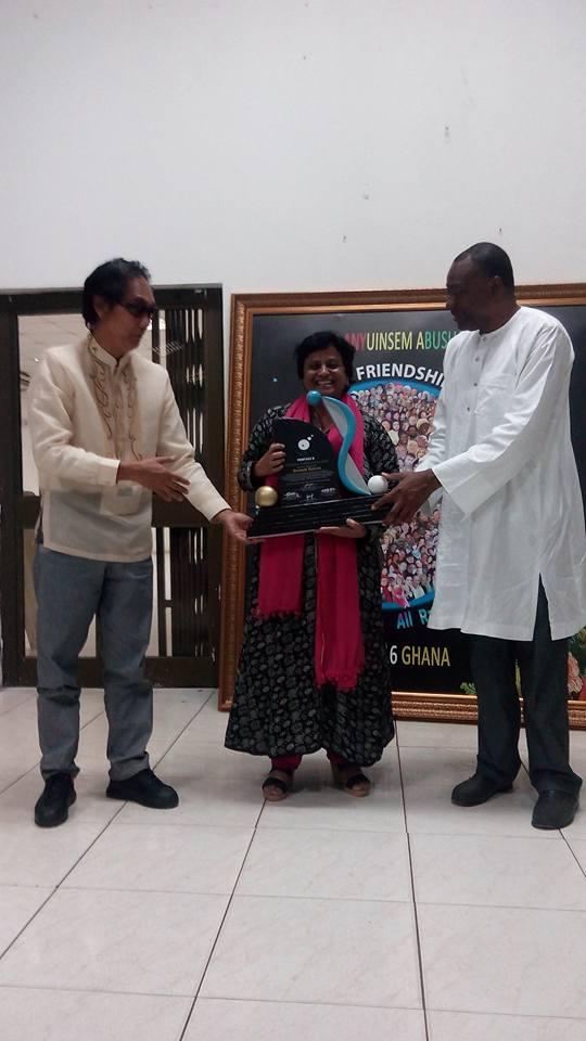Santosh Bakaya at Pentasi B World Friendship Poetry