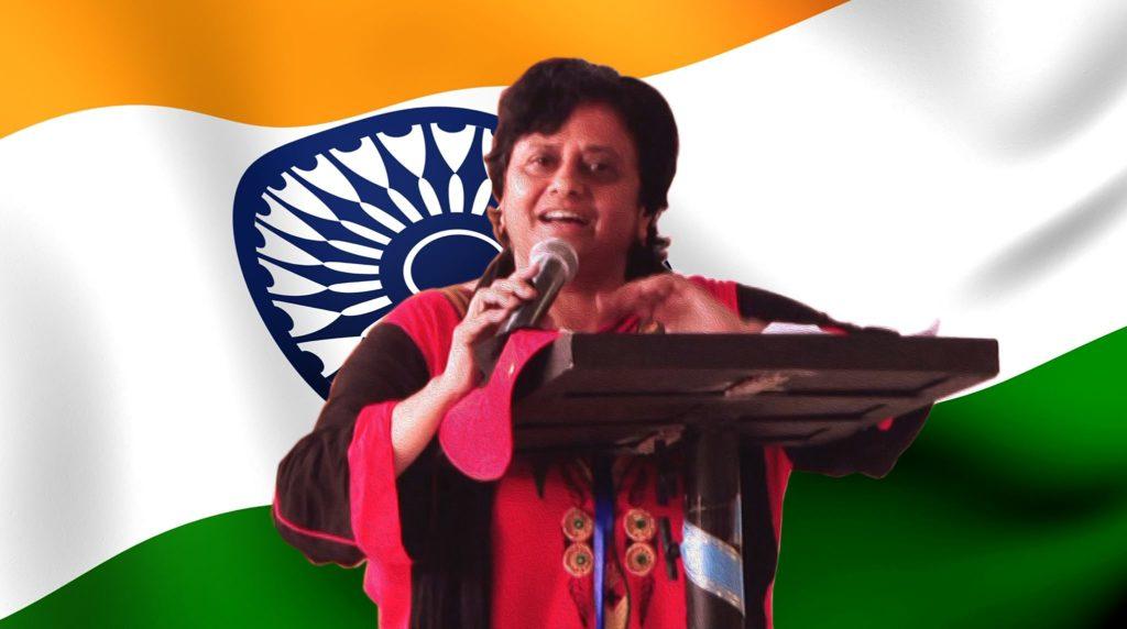Santosh Bakaya speaking on Ballad of Bapu