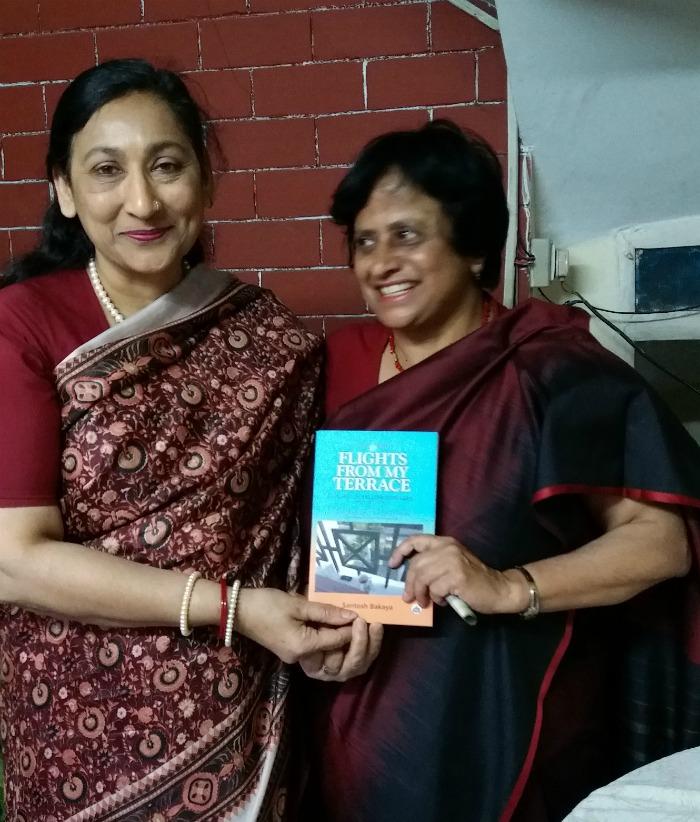 Dr Santosh Bakaya at the book launch