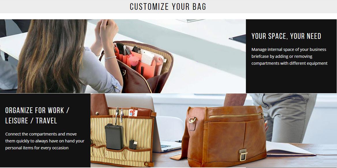 customized leather bag