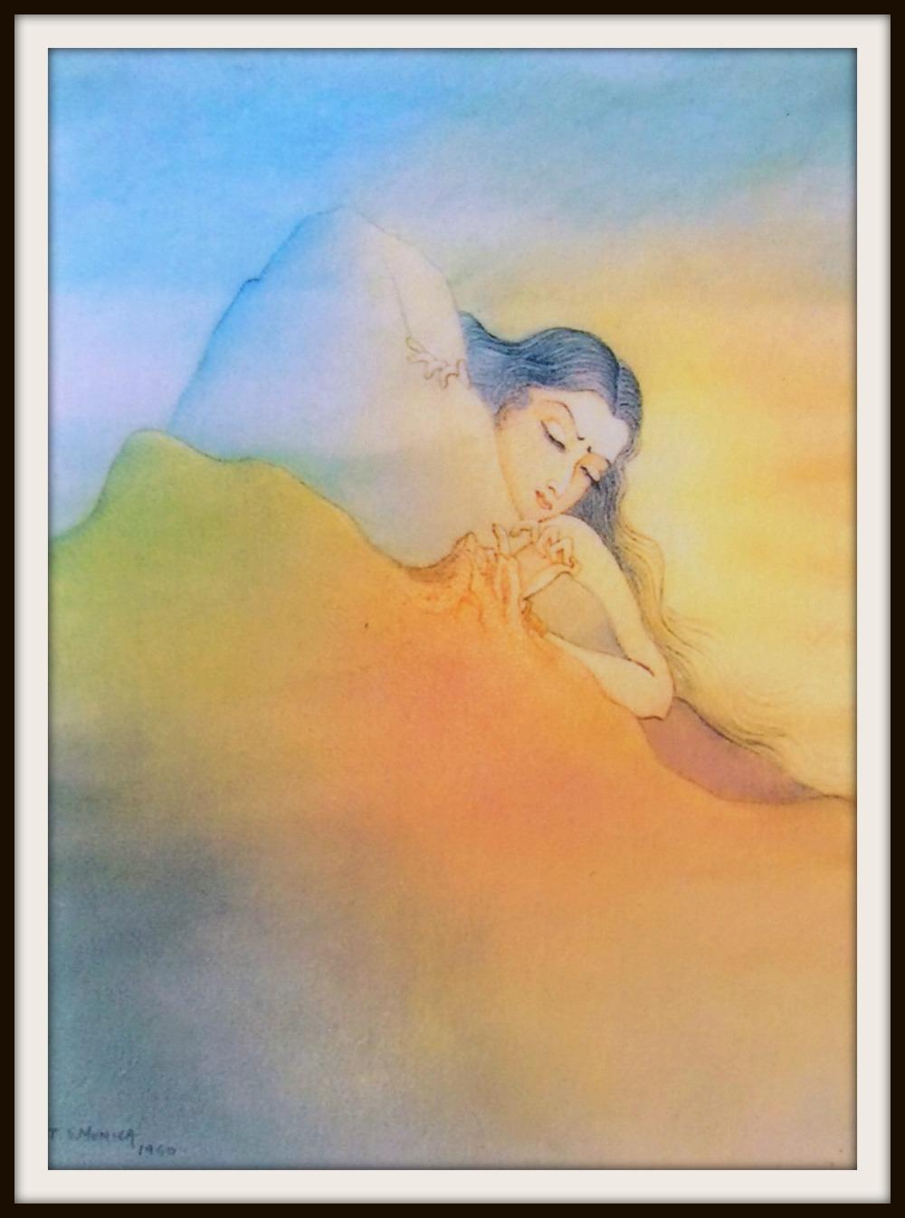 Creative impulse Monica Talukdar oil painting