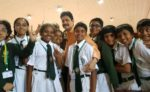 Ramendra Kumar with his enthusiastic bunch of learners
