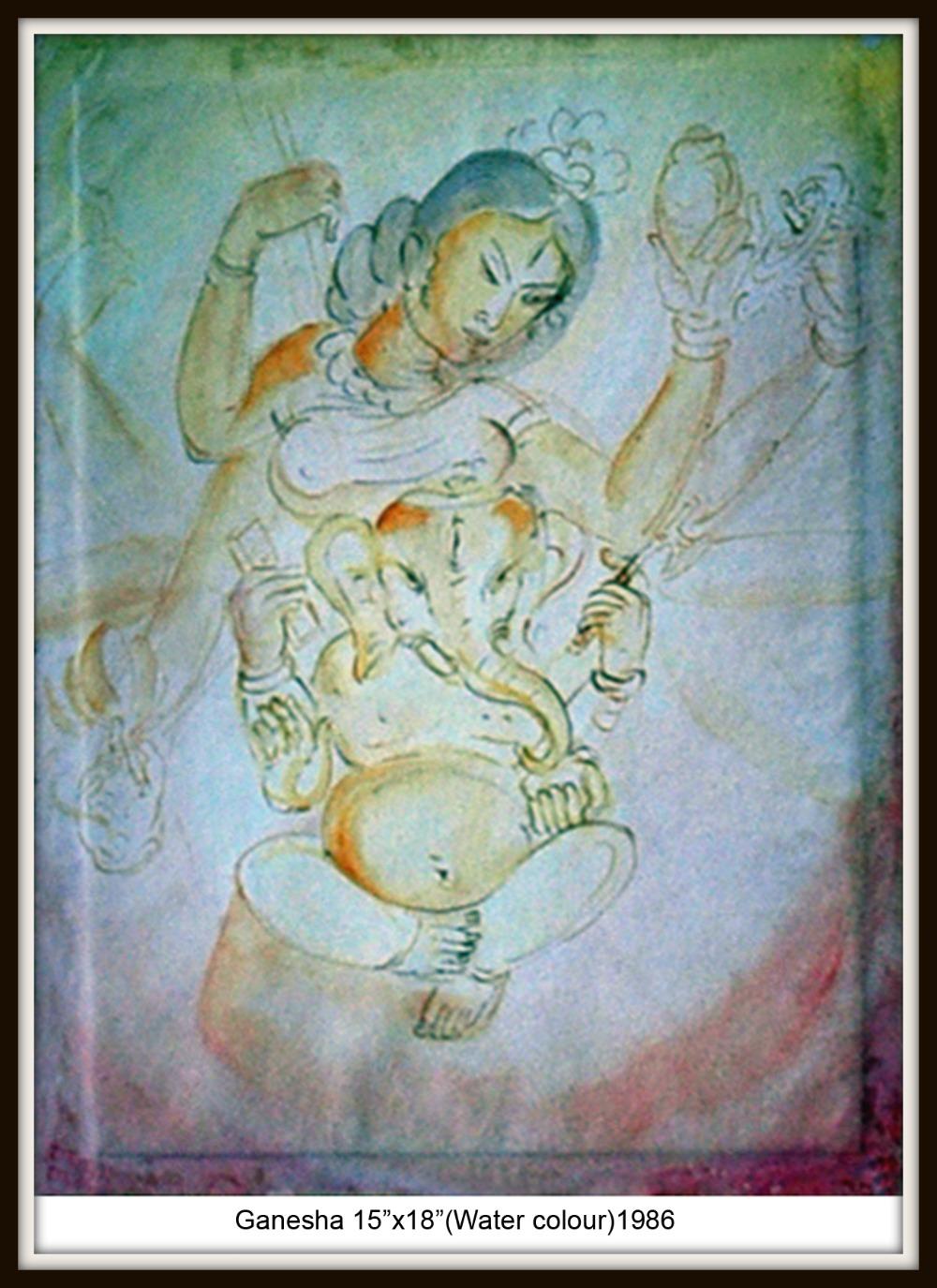 Monica Talukdar Ganesha (Water Colour)