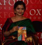 Vaijayantee Bhattacharya at the book launch in Kolkata
