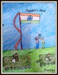 Republic Day art by kids