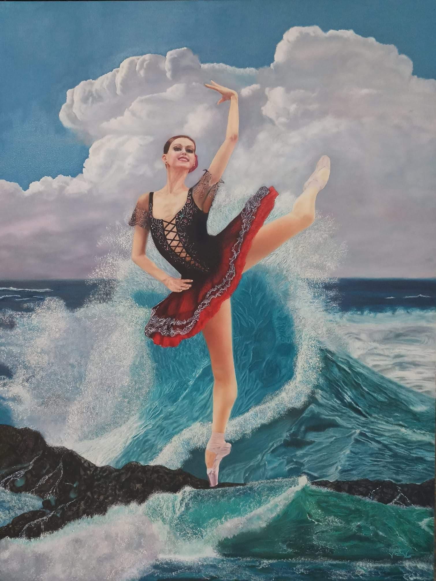vinitha nair painting ballerina
