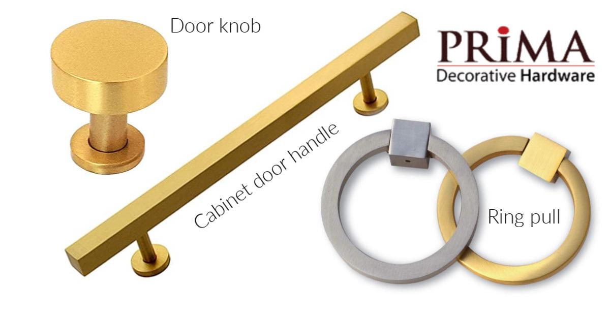 cabinet door handles, door knobs and ring pulls