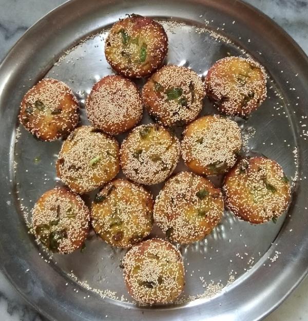 potato coconut fritters