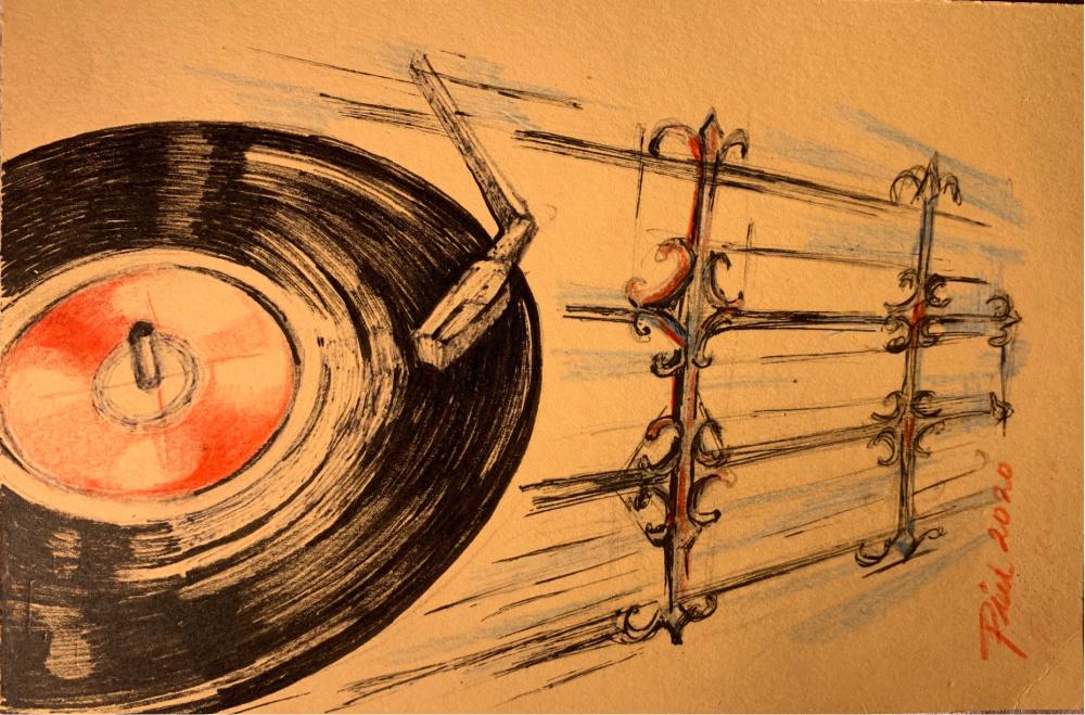 long playing artwork piu mahapatra