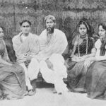 Rabindranath Tagore with his Son Rathindranath Tagore & Daughters Madhurilata Devi (Bela), Mira Devi, Renuka Devi