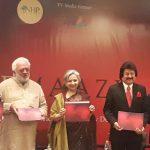 Sumant batra rahul rawail sharmSumant Batra, Rahul Rawail, Sharmila Tagore and Pankaj Udhas at the launch of Cinemaaziila tagore pankaj udhas